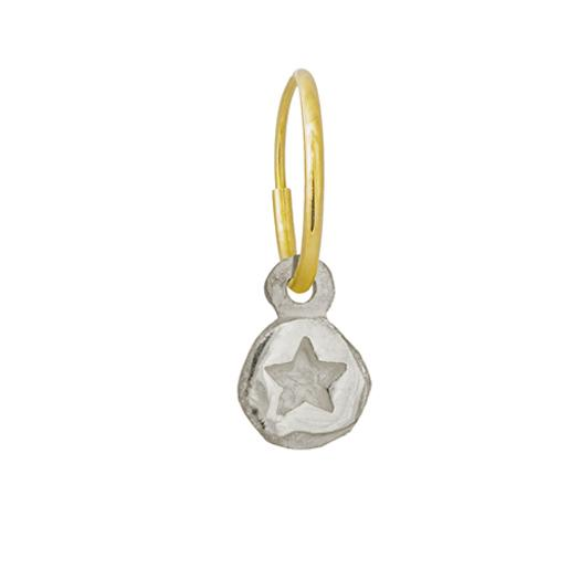 Tiny Star • Endless Hoop Charm Earring-Brevard