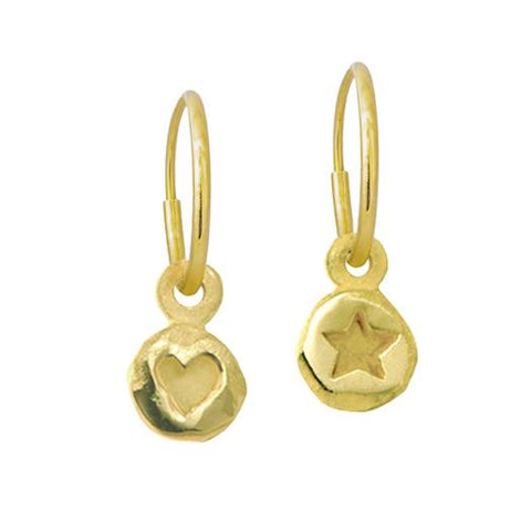 Gold Tiny Heart + Tiny Star Mismatch Earring Pair-Brevard