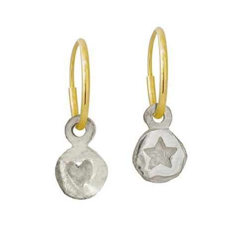 Tiny Heart + Tiny Star Mismatch Earring Pair-Brevard