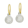 Tiny Star of David Coin • Endless Hoop Charm Earring-Brevard
