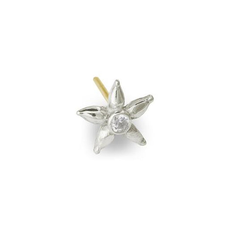 Tiny Stella Stud Earring with Stone-Brevard