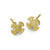 Gold Tiny Temple Cross Stud Earring-Brevard