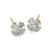 Tiny Temple Cross Stud Earring with Stone-Brevard