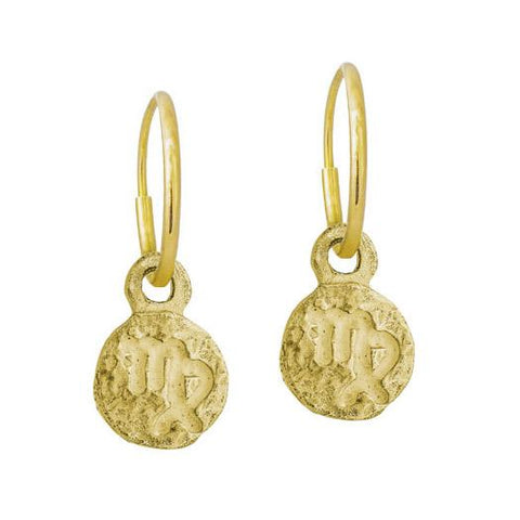 Gold Tiny Virgo Earring-Brevard