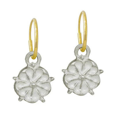 Cutout Tudor Rose • Endless Hoop Charm Earring-Brevard