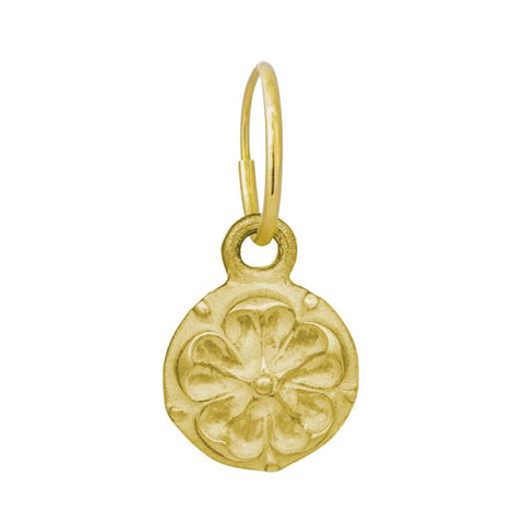 Gold Tudor Rose Coin Earring-Brevard
