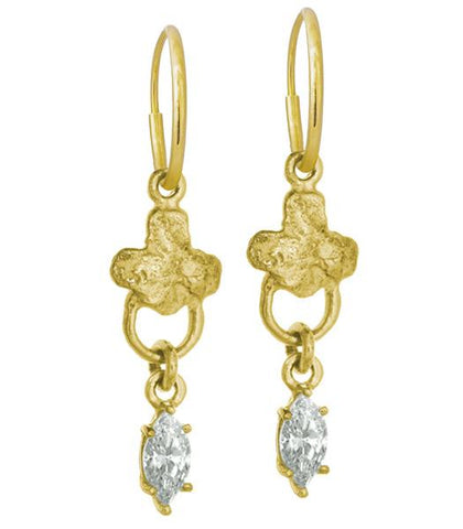 Gold Venice Marquis Earring-Brevard