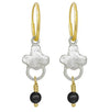 Venice with Black Onyx • Endless Hoop Charm Earring-Brevard