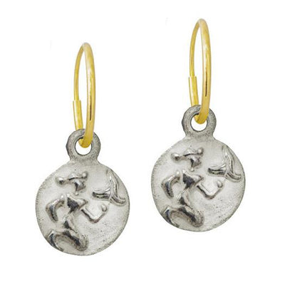 Virgo • Endless Hoop Charm Earring-Brevard