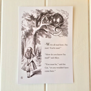 Alice In Wonderland Postcard - Literary Emporium