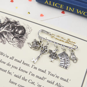 Alice In Wonderland Brooch - Literary Emporium