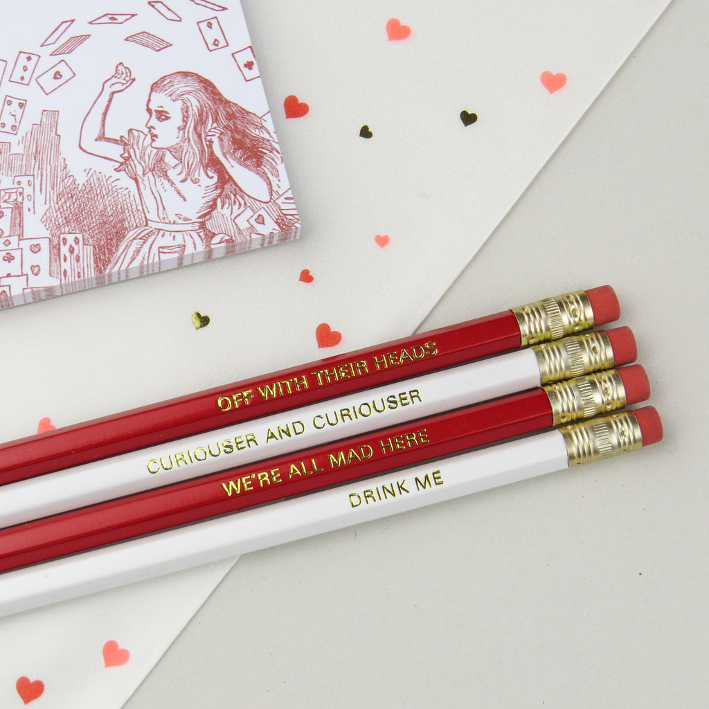 Alice In Wonderland Pencil Set - Literary Emporium