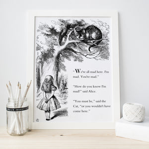 Alice In Wonderland Print - Literary Emporium