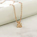 Ampersand Rose Gold Necklace - Literary Emporium