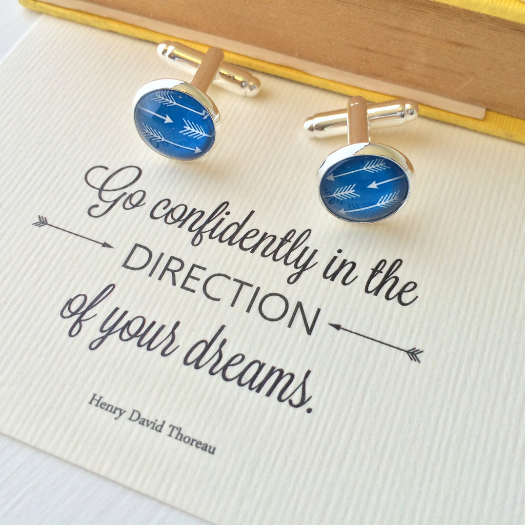 Literary Quote Arrow Cufflinks - Literary Emporium