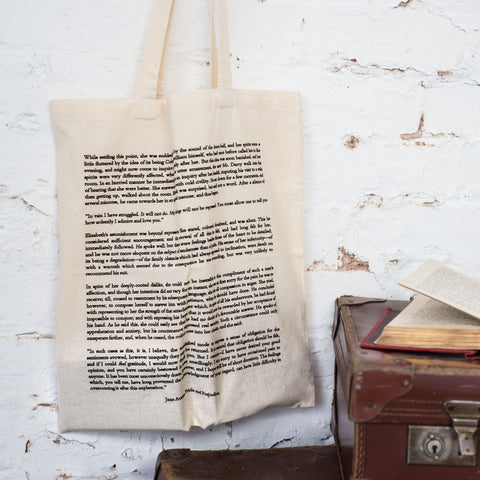 Pride And Prejudice Cotton Book Bag - Literary Emporium