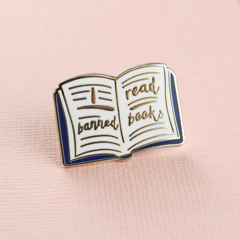 Banned Books Enamel Pin