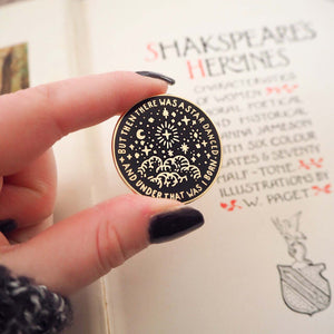 Beatrice Much Ado About Nothing Enamel Pin - Shakespeare's Heroines Collection - Literary Emporium