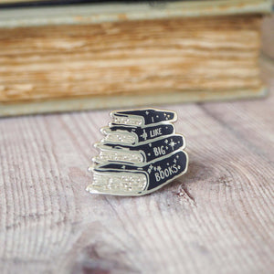 'I Like Big Books' Enamel Pin - Literary Emporium
