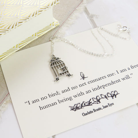 Jane Eyre Birdcage Necklace - Literary Emporium