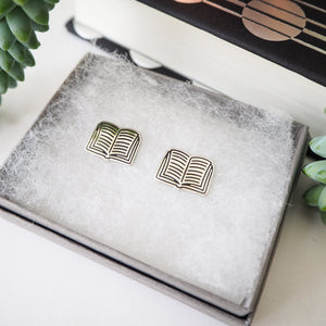 Book Stud Earrings - Literary Emporium