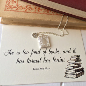 Personalised Book Lover Locket - Literary Emporium
