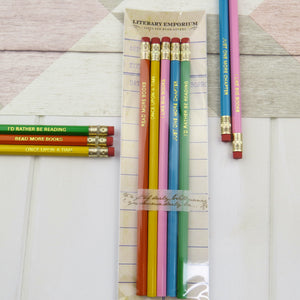 Book Lover Pencil Set - Literary Emporium