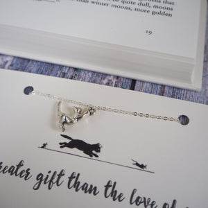 Charles Dickens Cat Lover Necklace - Literary Emporium