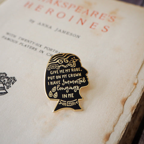 Cleopatra Enamel Pin - Shakespeare's Heroines Collection - Literary Emporium