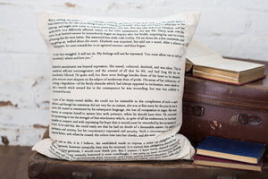 Pride And Prejudice Cushion Cover Book Page Print - Literary Emporium