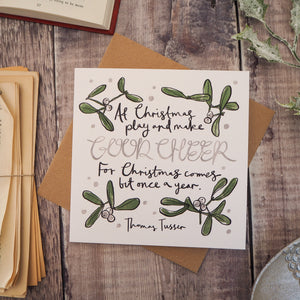 Literary Quote Christmas Card - Literary Emporium