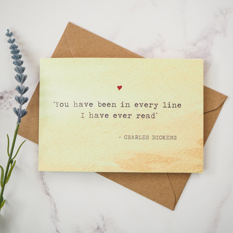 Charles Dickens Valentines Card