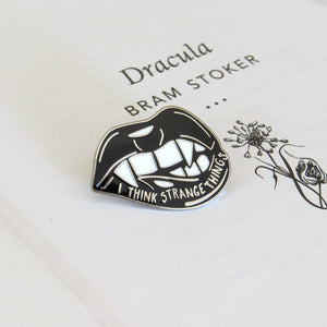 Dracula Enamel Pin - Gothic Literature Collection - Literary Emporium