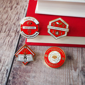 Dystopian Literature Enamel Pin Set