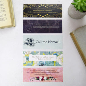 First and Last Line Bookmark Set - Literary Emporium