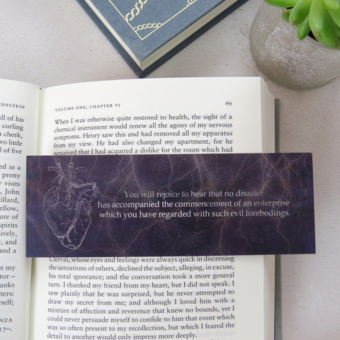 Frankenstein Bookmark - First and Last Line Collection