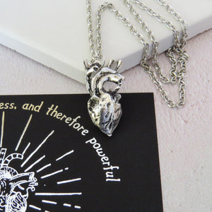 Frankenstein Anatomical Heart Necklace - Gothic Literature Collection - Literary Emporium
