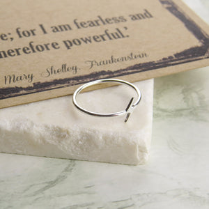 Frankenstein Lightning Bolt Ring - Literary Emporium