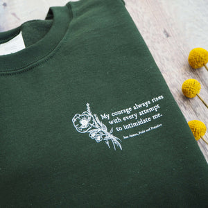 Green Pride and Prejudice Sweatshirt - Literary Emporium