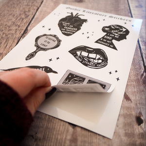 Gothic Literature Vinyl Sticker Sheet - Literary Emporium