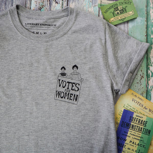 Grey Votes for Women Charity T-Shirt - Literary Emporium