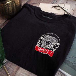 Courageous Lion T-Shirt - Magical House Collection - Literary Emporium