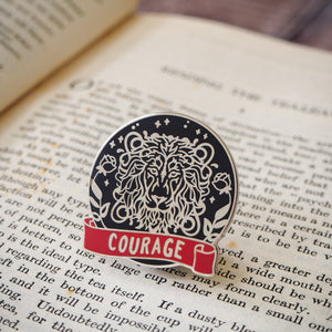 Courageous Lion - Magical House Enamel Pin Collection - Literary Emporium