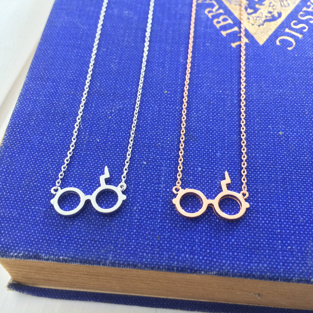 Wizard Glasses Necklace - Literary Emporium
