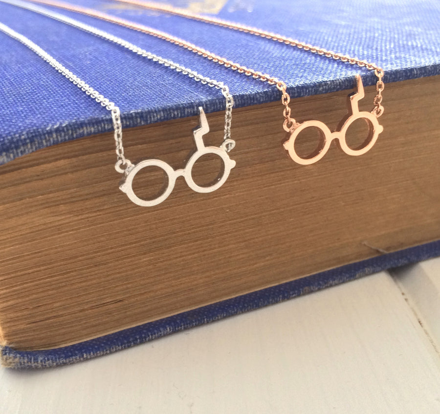 Wizard Glasses Necklace - Magic Collection - Literary Emporium