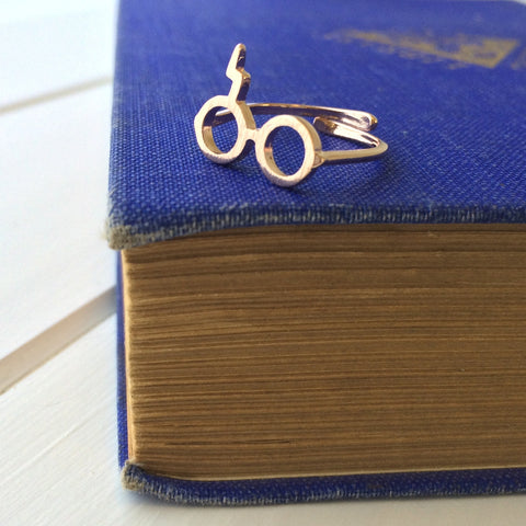 Wizard Glasses Ring - Literary Emporium