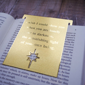 Inspiring Quote Brass Bookmark - Hafiz of Shiraz - Literary Emporium