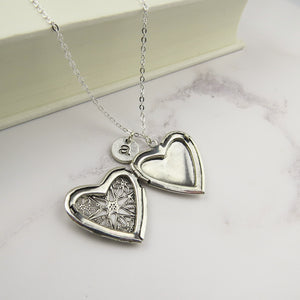 Personalised Heart Locket - Literary Emporium