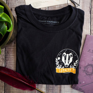 Loyal Badger T-Shirt - Magical House Collection - Literary Emporium