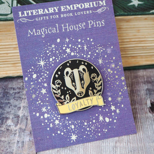 Loyal Badger - Magical House Enamel Pin Collection - Literary Emporium